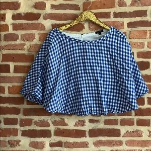 J Crew gingham skirt with pockets
